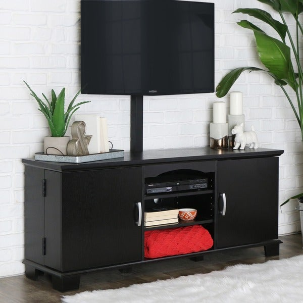 Shop Black 60 Tv Stand With Mount Free Shipping Today Overstock