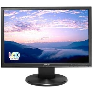 "Asus VW199T-P 19"" WXGA+ LED LCD Monitor - 16:9 - Black"
