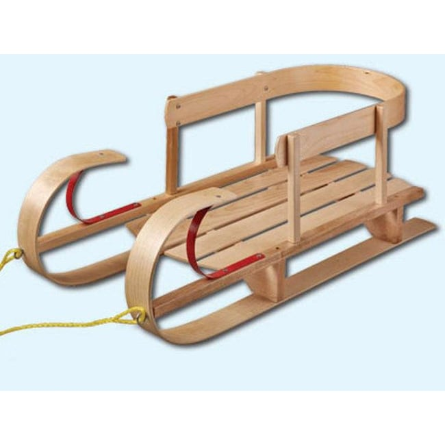 Flexible Flyer Wooden Kindersleigh Toddler Sled with Safety Rails