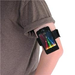 Suede Armband/ Mirror Screen Protector for Apple iPod Touch - Thumbnail 1
