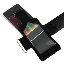 Suede Armband/ Mirror Screen Protector for Apple iPod Touch - Thumbnail 2