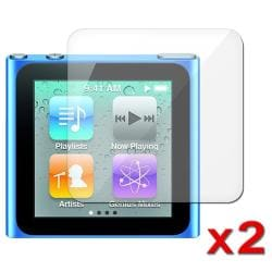 INSTEN Clear Screen Protector for Apple iPod Nano 6th Generation (Pack of 2)