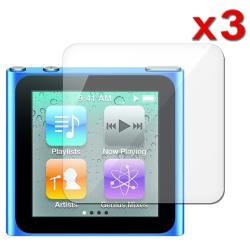 INSTEN Clear Screen Protector for Apple iPod Nano 6th Gen (Pack of 3) - Thumbnail 1