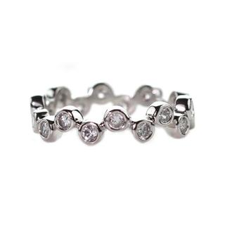 Link to NEXTE Jewelry Brass Silvertone Cubic Zirconia Abstract Eternity Band Similar Items in Rings