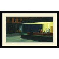 Framed Art Print 'Nighthawks, 1942' by Edward Hopper 43 x 27-inch