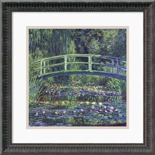 Claude Monet 'Water Lily Pond, 1899 (blue)' Framed Art Print