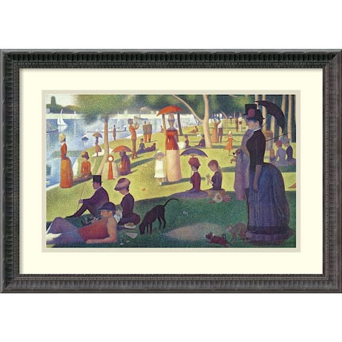 Framed Art Print 'Sunday Afternoon on the Island of La Grande Jatte, 1884-1886' by Georges Seurat 24 x 18-inch