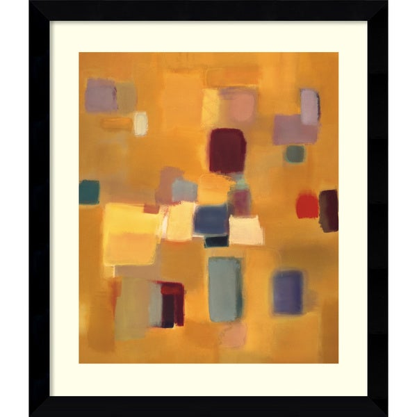 Nancy Ortenstone 'Song in Gold' Framed Art Print