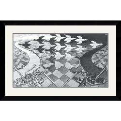 M. C. Escher 'Day and Night' Framed Art Print