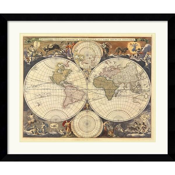 Ria Visscher 'New World Map, 17th Century' Framed Art Print
