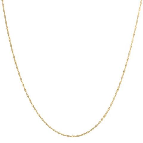 Fremada 14k Yellow Gold Singapore Chain Necklace
