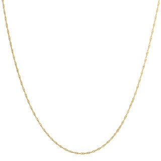 Fremada 14k Yellow Gold Singapore Chain Necklace (5 options available)
