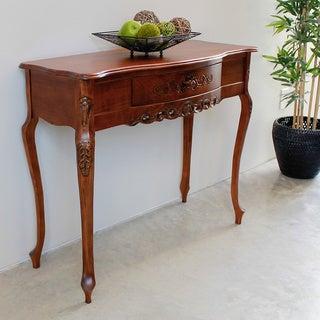 International Caravan Shangri-La Hand-carved Wood Table