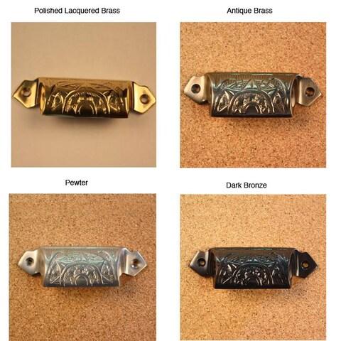 Solid Brass Vintage Raliegh Bin Pulls (Set of 4)