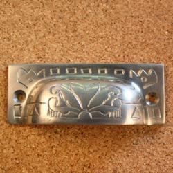 Solid Brass Vintage Fairfax Design Bin Pulls (Set of 4)