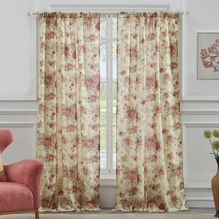 Link to Greenland Home Fashions Antique Rose 84-inch Curtain Panel Pair Similar Items in Window Treatments