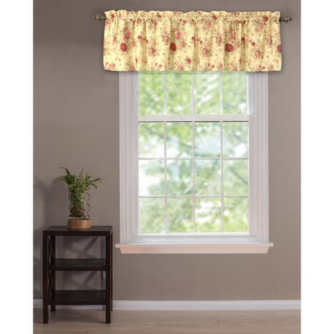 Greenland Home Fashions Antique Rose Valance