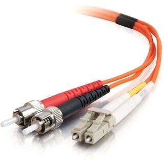 3m LC-ST 50/125 OM2 Duplex Multimode PVC Fiber Optic Cable - Orange