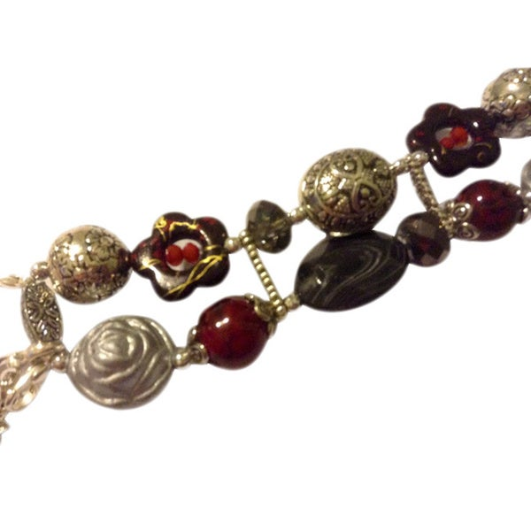 Beads with Bling Handmade Beaded Twilight Watch Band