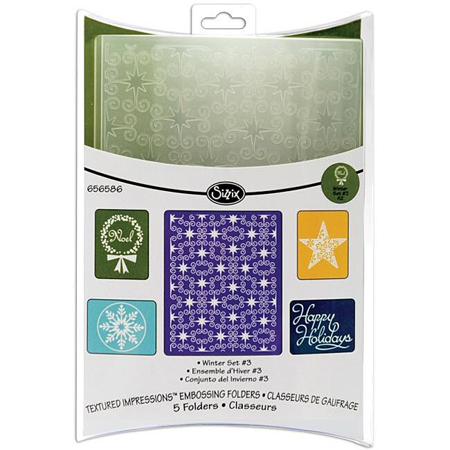 Sizzix Textured Impressions 'Winter #3' Embossing Folders (Pack of 2)