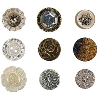 Tim Holtz Idea-Ology Accoutrements 9-piece Fanciful Buttons|https://ak1.ostkcdn.com/images/products/5592295/P13356840.jpg?impolicy=medium