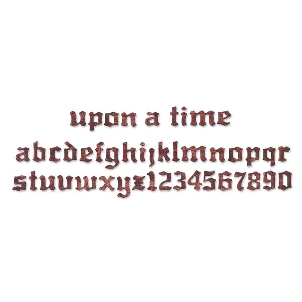 Sizzix Sizzlits 'Once Upon A Time Alphabet' Decorative Strip Die