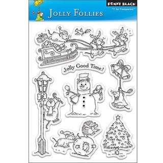 Penny 'Jolly Follies' Clear Stamps