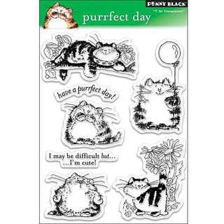 Penny 'Purrfect Day' Clear Stamps