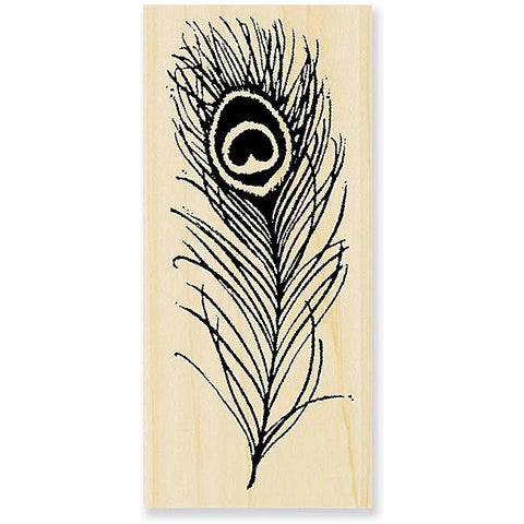 Stampendous 'Peacock Feather' Wood Stamp