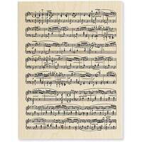 Stampendous 'Music Score' Wood Stamp