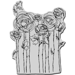 Stampendous 'Ranunculus Field' Rubber Stamp