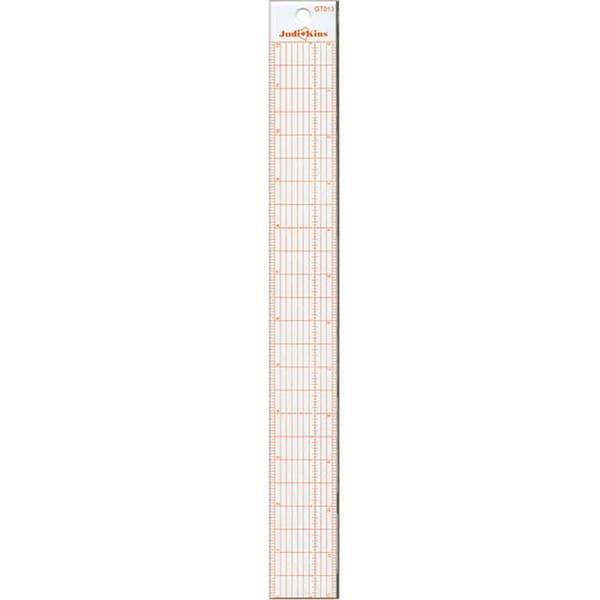 Judikins 12-inch Steel-edge Hi-Vis Ruler