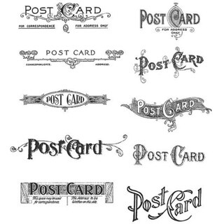 Tim Holtz 'Postcards' Rubber Stamp Set