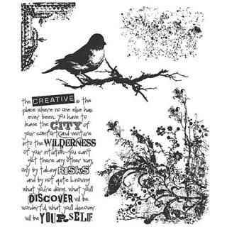Tim Holtz 'Urban Tapestry' Rubber Stamp Set