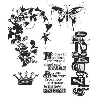 Tim Holtz Fairytale Frenzy Cling Rubber Stamp Set