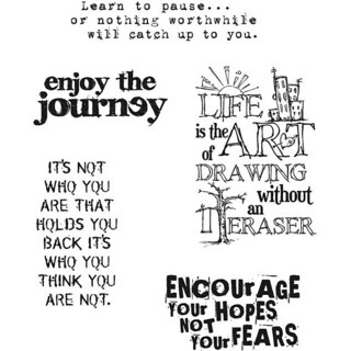 'Just Thoughts' Rubber Stamp Set