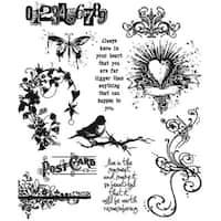 Tim Holtz 'Urban Chic' Rubber Stamp Set