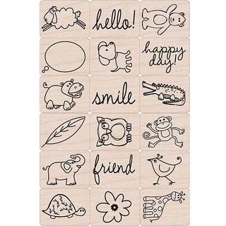 Hero Arts 'Happy Animals' Ink 'n Stamp Tub