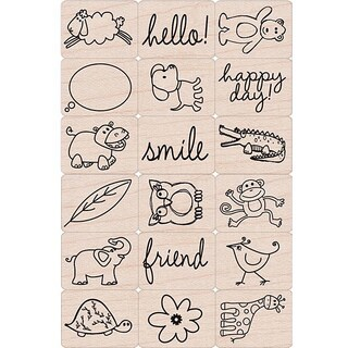 Hero Arts 'Happy Animals' Ink 'n Stamp Tub