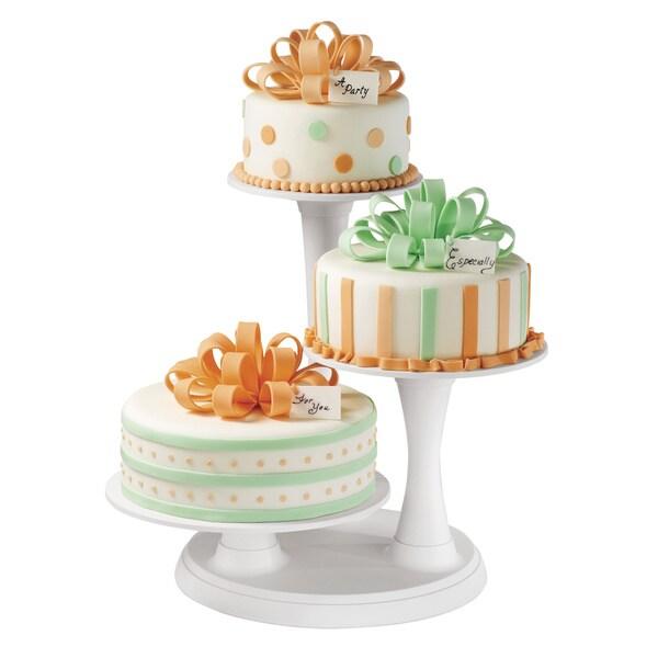 Wilton Off-white 3-tier Pillar Cake Stand