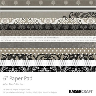 After Five Designed Paper Pad and Scrapbook Paper Combo