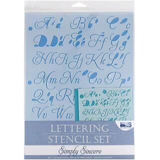 Blue Hills Studio 'Simply Sincere' 4-piece Lettering Stencil Set