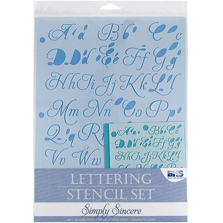 Blue Hills Studio 'Simply Sincere' 4-piece Lettering Stencil Set