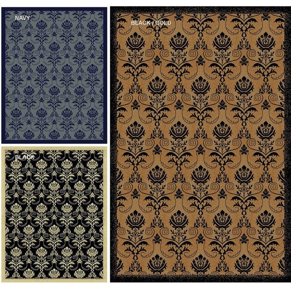 Admire Home Living Impressions Royal Multi Abstract Rug (3'3 x 4'11)