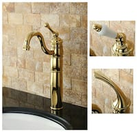 Heritage Polished Brass Vessel Faucet