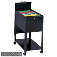 Mayline Mobilizers Heavy Gauge Steel Letter Sized Wheeled File Cabinet