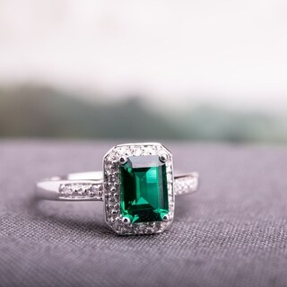 Miadora 10k White Gold Created Emerald and Diamond Accent Ring|https://ak1.ostkcdn.com/images/products/5594004/P13358225.jpg?_ostk_perf_=percv&impolicy=medium