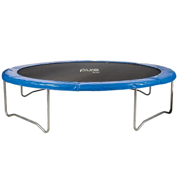 Pure Fun 12-foot PVC Trampoline with Rust-resistant Steel Frame