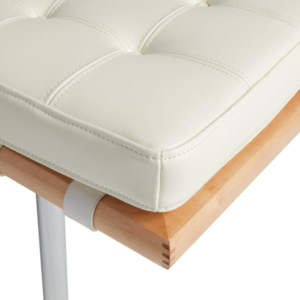 Terrific Shop Strick Bolton Andalucia Modern White Leather Bench Ocoug Best Dining Table And Chair Ideas Images Ocougorg