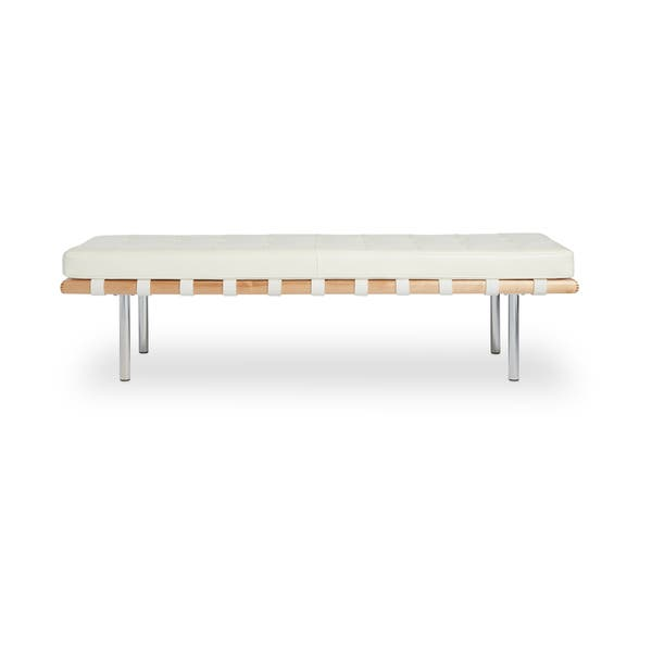Cool Shop Strick Bolton Andalucia Modern White Leather Bench Ocoug Best Dining Table And Chair Ideas Images Ocougorg